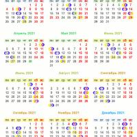 4009 Лунный календарь на 2021 год. Фазы Луны в 2021 году. Полнолуния и новолуния в 2021 году